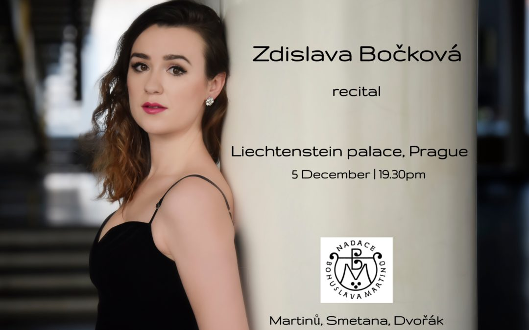 Zdislava'srecital at Martinů Days in Prague