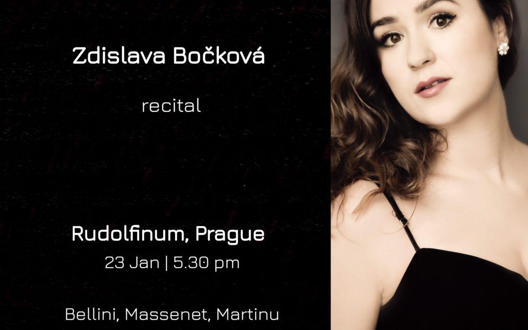 First recital of Ms Bockova in 2019 in Rudolfinum, Prague.
