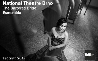 Zdislava vystoupí jako Esmeralda vNárodním divadle Brno.