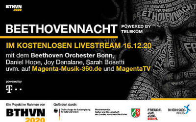 Lada as a soloist at Beethoven Night live from Bonn!
